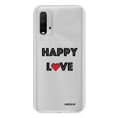 Coque Xiaomi Redmi 9T 360 intégrale transparente Happy Love Tendance Evetane.
