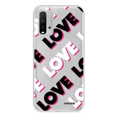 Coque Xiaomi Redmi 9T 360 intégrale transparente Love and Love Tendance Evetane.