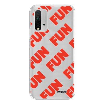 Coque Xiaomi Redmi 9T 360 intégrale transparente Fun orange Tendance Evetane.