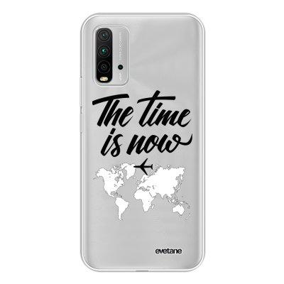 Coque Xiaomi Redmi 9T 360 intégrale transparente The time is Now Tendance Evetane.