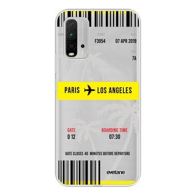 Coque Xiaomi Redmi 9T 360 intégrale transparente Blllet Paris-Los Angeles Tendance Evetane.