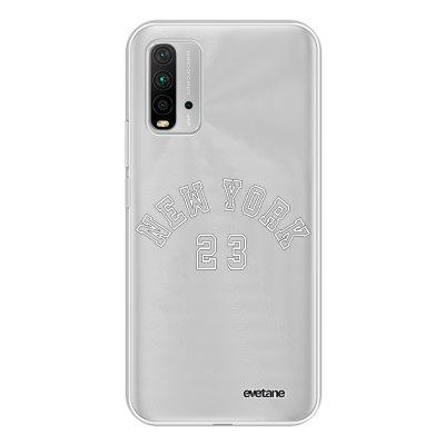 Coque Xiaomi Redmi 9T 360 intégrale transparente New York 23 Tendance Evetane.