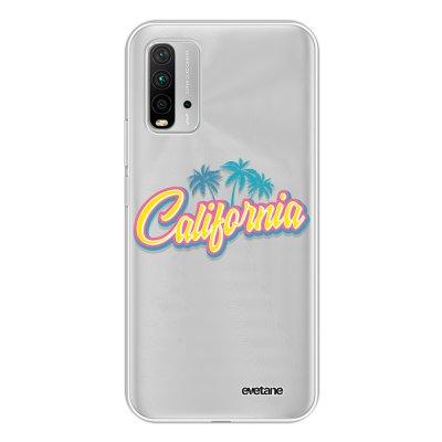 Coque Xiaomi Redmi 9T 360 intégrale transparente California Tendance Evetane.