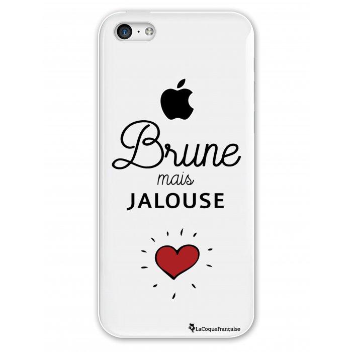 coque rigide transparent brune mais jalouse iphone 5c