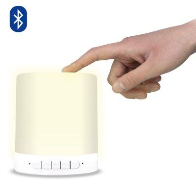 Haut-parleur Bluetooth 3 W avec lampe RGB intégrée + Lecteur de carte MicroSD intégré