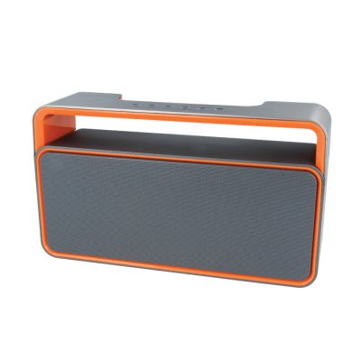 Haut-parleur Bluetooth 2 x 5 W - Gris & orange