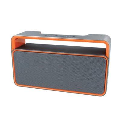 Haut-parleur Bluetooth 2 x 5 W - Gris & orange
