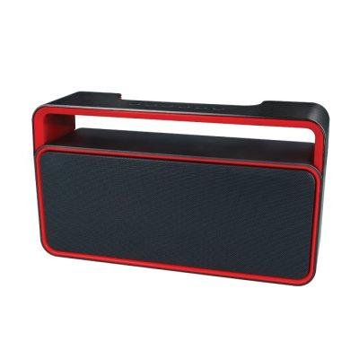 Haut-parleur Bluetooth 2 x 5 W - Noir & rouge
