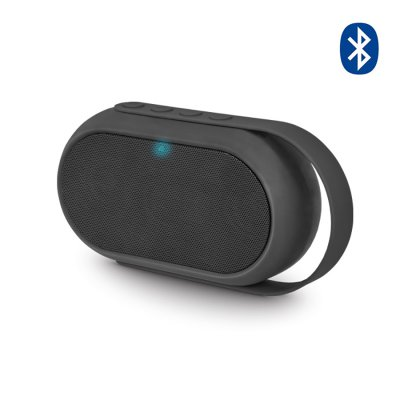 Enceinte Bluetooth avec radio FM, lecteur de carte microSD & port USB - Noir