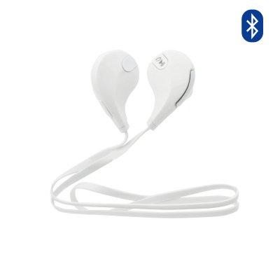 Ecouteurs sport Bluetooth universel avec microphone intégré - Blanc