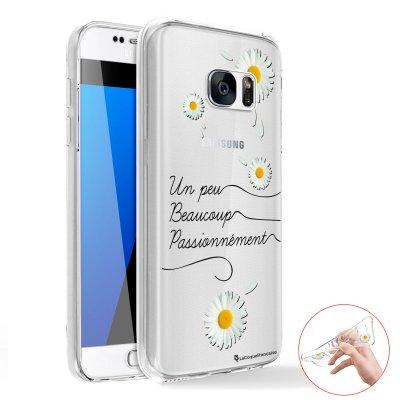 Coque transparente intégrale 360° en silicone souple Un Peu Beaucoup pour Samsung Galaxy S6