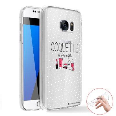 Coque transparente intégrale 360° en silicone souple Coquette pour Samsung Galaxy S6