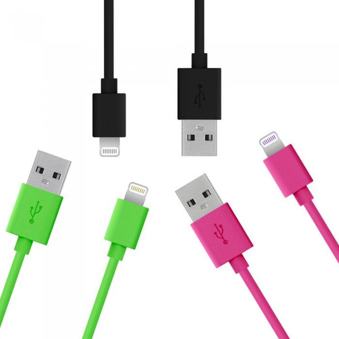 Lot de 3 câbles USB Lightning de charge & de synchronisation