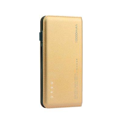 Batterie externe 10 000 mAh aspect cuir Sexy & Bronzée - Or