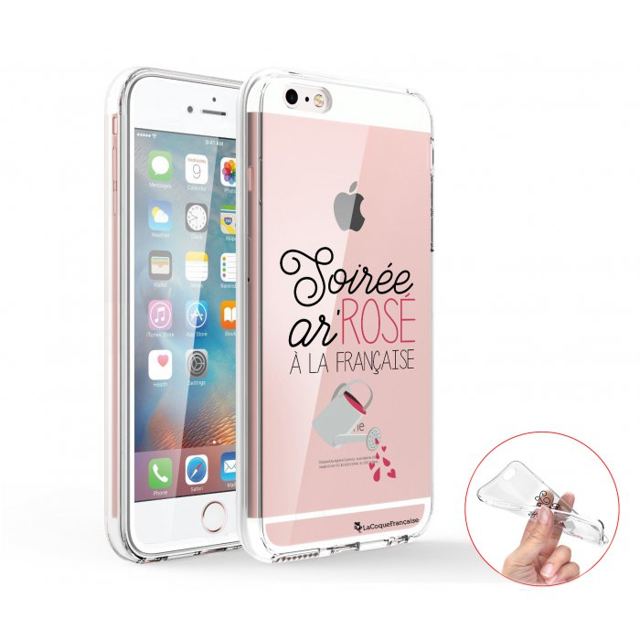 coque iphone 5 5s se 360 integrale transparente soiree ar rose ecriture tendance design la coque francaise