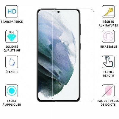 Vitre Samsung Galaxy S21 5G de protection en verre trempé