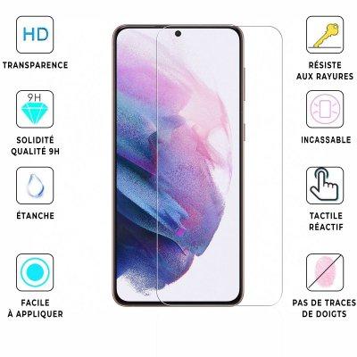 Vitre Samsung Galaxy S21 Plus 5G de protection en verre trempé