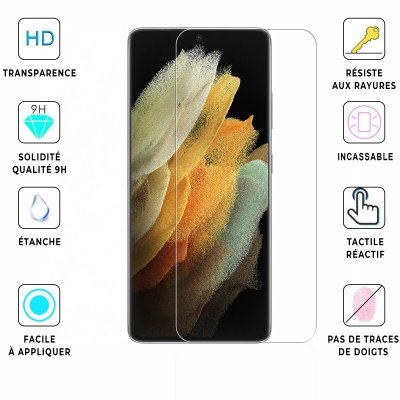 Vitre Samsung Galaxy S21 Ultra 5G de protection en verre trempé