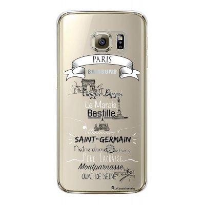 Coque rigide transparent Quartiers de Paris Samsung Galaxy S6