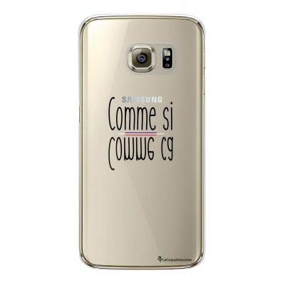 Coque rigide transparent comme ci comme ca Samsung Galaxy S6