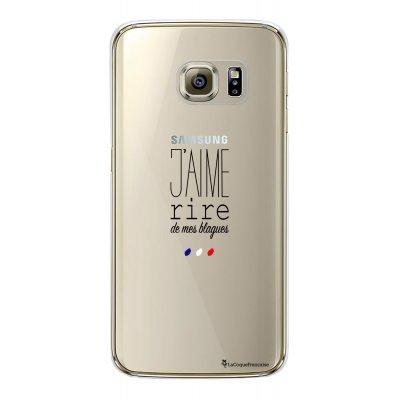 Coque rigide transparent jaime rire de mes blagues Samsung Galaxy S6