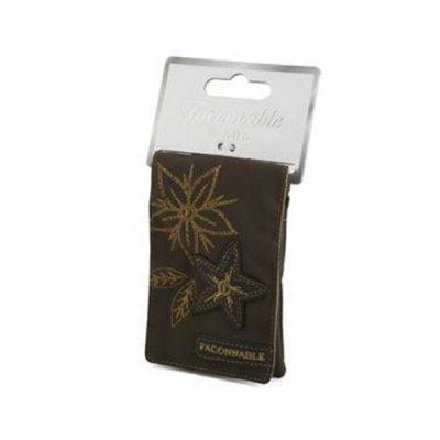 Pochette Façonnable pour smartphone Flower - Chocolat