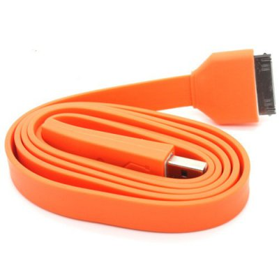 Câble data USB Fashion orange pour Apple iPhone - Transfert et chargement