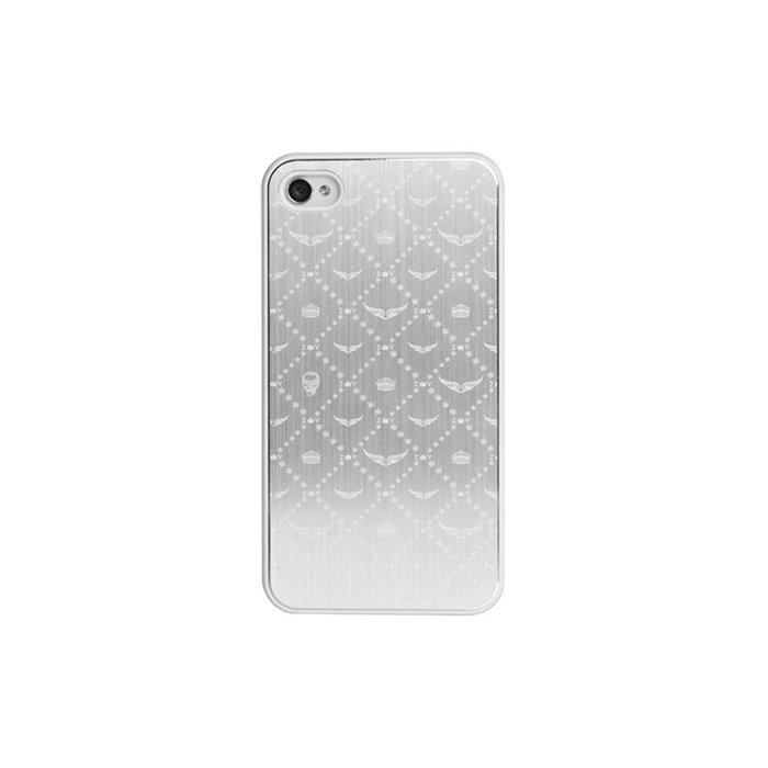 coque blanche zadig voltaire finition metal et motifs ailes pour iphone 4 4s