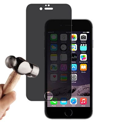Vitre protectrice avant anti vision latérale en verre trempé pour iPhone 7