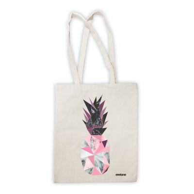 Shopping bag Ananas Géométrique Marbre