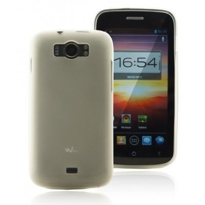 Coque gel blanche mocca pour wiko cink king