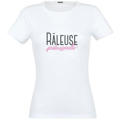 T-Shirt femme blanc Râleuse Professionnelle - Taille L