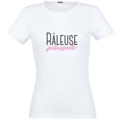 T-Shirt femme blanc Râleuse Professionnelle - Taille S