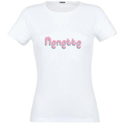 T-Shirt femme blanc Nenette - Taille S