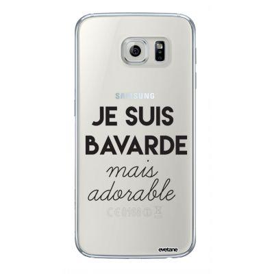 Coque rigide transparent Bavarde Mais Adorable Samsung Galaxy S6