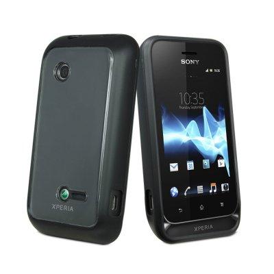 Coque bimat en silicone et ABS noire Sony Xperia Tipo