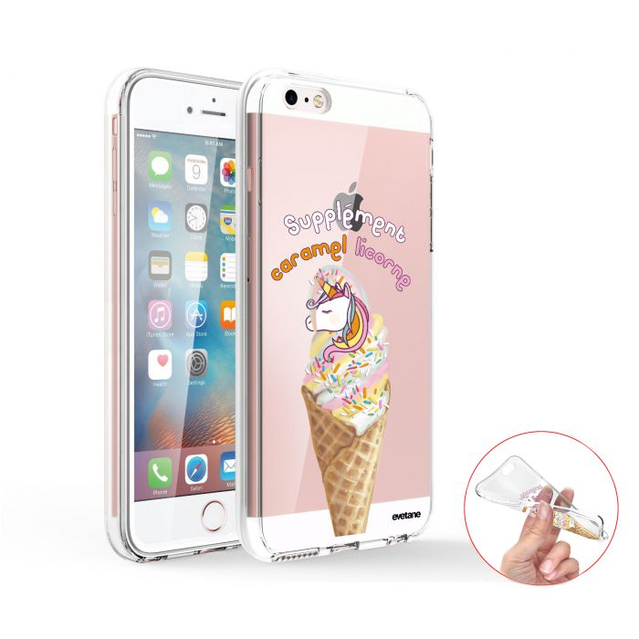 coque integrale 360 souple transparent caramel licorne iphone se 5s 5