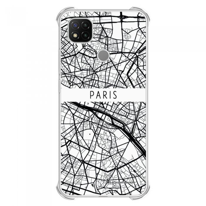 Coque Xiaomi Redmi 9C anti-choc souple angles renforcés transparente Carte de Paris La Coque Francaise