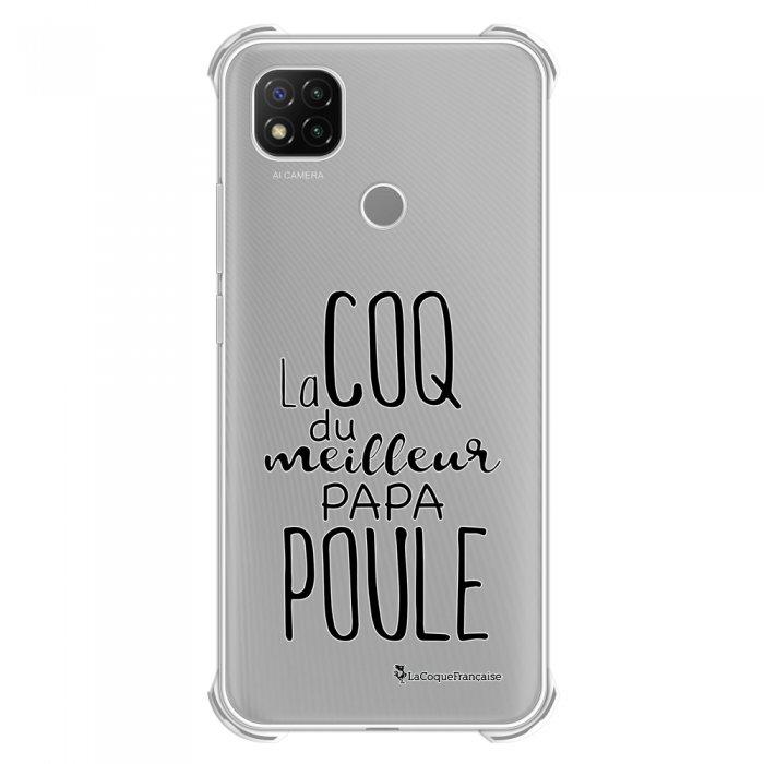 Coque Xiaomi Redmi 9C anti-choc souple angles renforcés transparente Meilleur papa poule La Coque Francaise