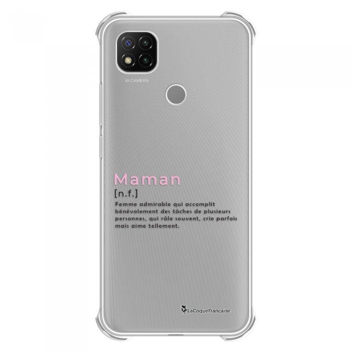 Coque Xiaomi Redmi 9C anti-choc souple angles renforcés transparente Maman Definition La Coque Francaise