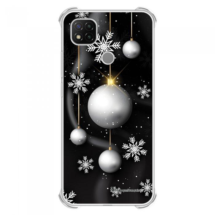 Coque Xiaomi Redmi 9C anti-choc souple angles renforcés transparente Boules Etoiles Noel neiges La Coque Francaise