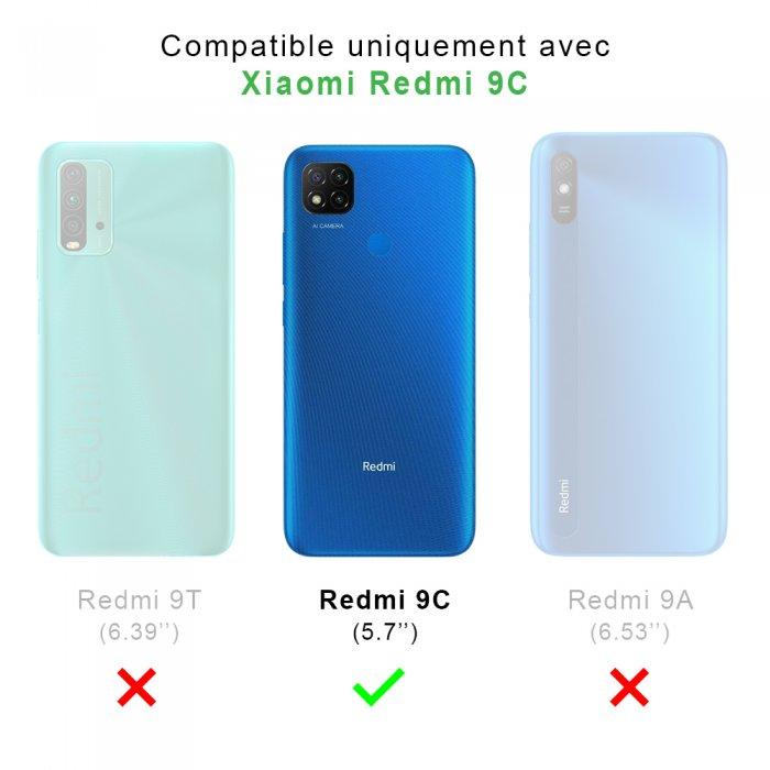 Coque Xiaomi Redmi 9C anti-choc souple angles renforcés transparente Triangles multicolors La Coque Francaise