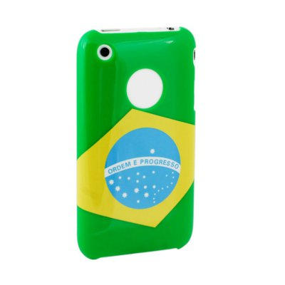 Coque glossy Flag Back Bresil Muvit pour iPhone 3G et 3GS