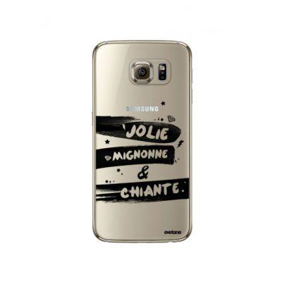 Coque souple transparent Jolie Mignonne et chiante Samsung Galaxy S6