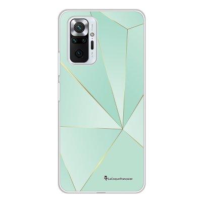 Coque Xiaomi Redmi Note 10 Pro 360 intégrale transparente Vert géométrique Tendance La Coque Francaise.