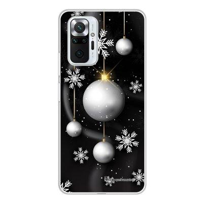 Coque Xiaomi Redmi Note 10 Pro 360 intégrale transparente Boules Etoiles Noel neiges Tendance La Coque Francaise.