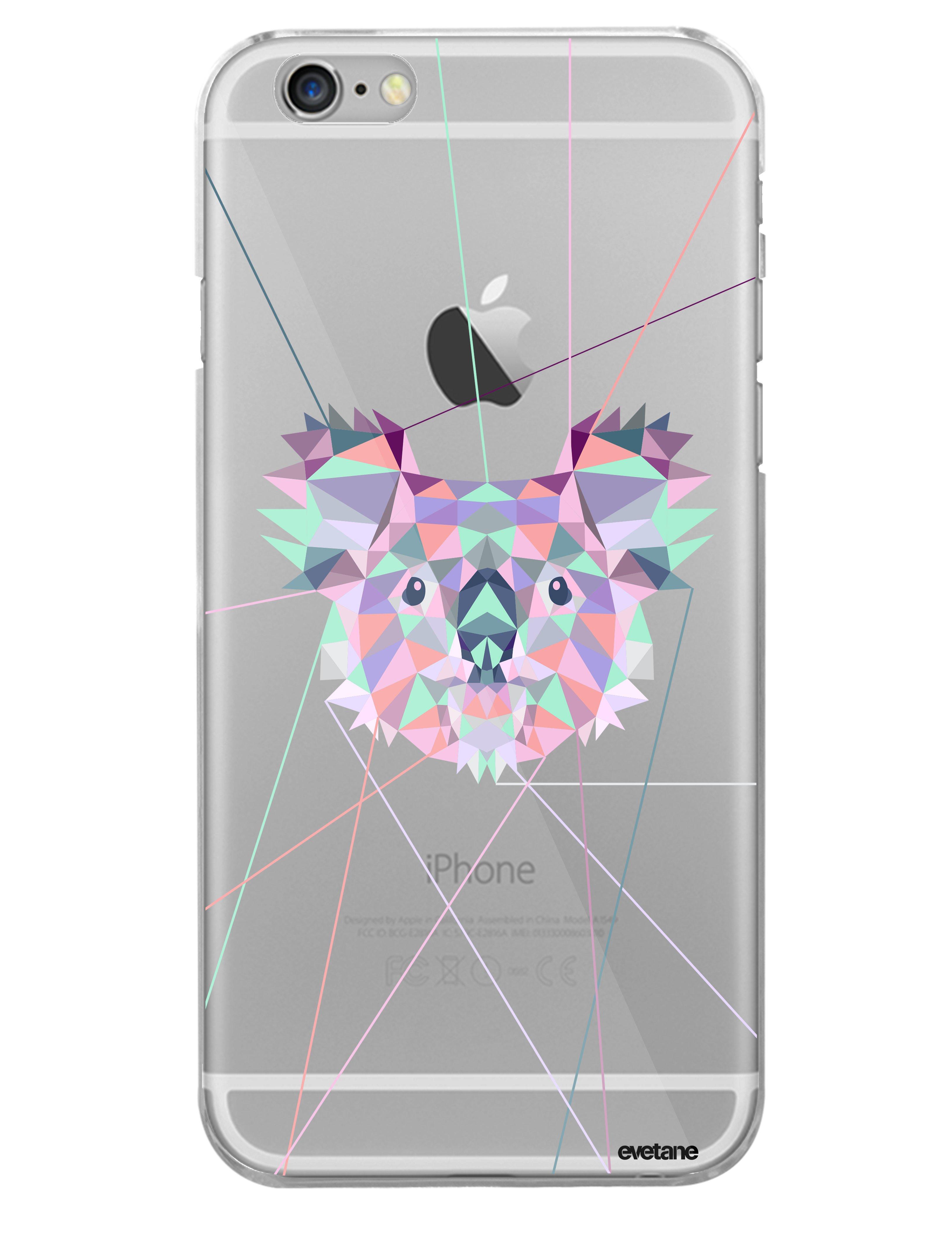 coque rigide transparent koala outline iphone 6 6s