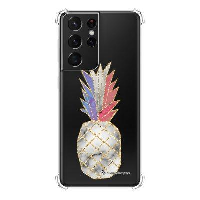 Coque Samsung Galaxy S21 Ultra 5G anti-choc souple angles renforcés transparente Ananas à la Française La Coque Francaise