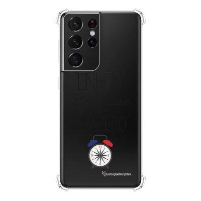 Coque Samsung Galaxy S21 Ultra 5G anti-choc souple angles renforcés transparente Heure de l'apéro La Coque Francaise