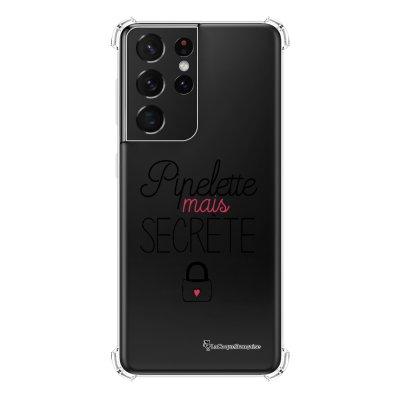 Coque Samsung Galaxy S21 Ultra 5G anti-choc souple angles renforcés transparente Pipelette mais secrète La Coque Francaise